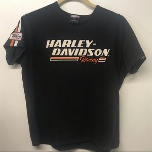 Vtg Harley-Davidson Racing Screaming Eagle Shirt